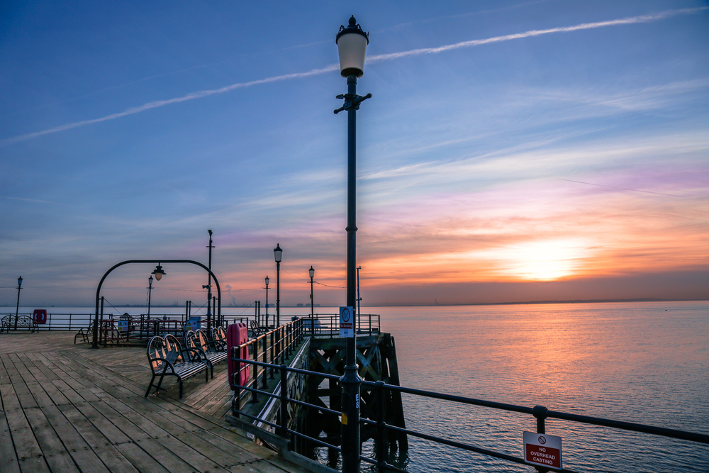 Southend Pier, which has a rich history.