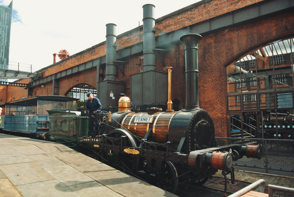Steam Engine in Manchester, where it was invented.